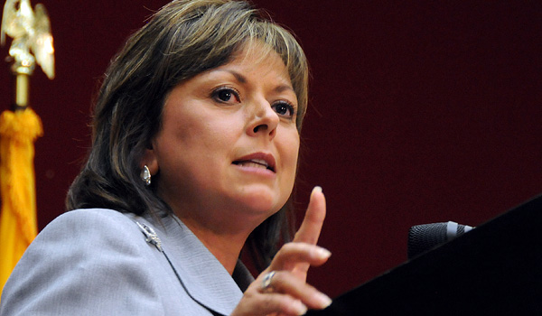 Gov. Susana Martinez, shown here speaking as a candidate in Las Cruces in 2010. (Heath Haussamen/New Mexico In Depth)