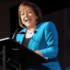 Gov. Susana Martinez speaks Oct. 18 during the International Symposium for Personal and Commercial Spaceflight in Las Cruces. As governor, she has appealed to voters as a champion of the people taking on a corrupt and bloated political system. (Shari V. Hill/Las Cruces Sun-News)