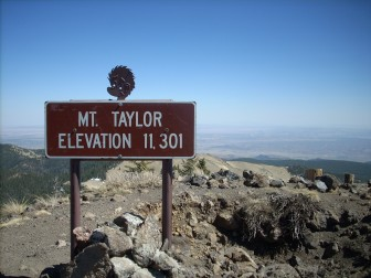 A photo from the top of Mount Taylor, a mountain that is sacred to nearby Native communities. Protection of such sites has long been of concern to Native communities worried about uranium mining in the area.