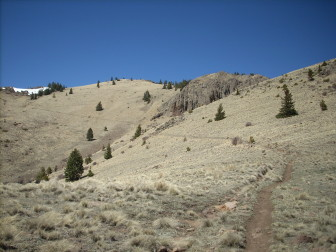 The trail leading to the top of Mount Taylor.