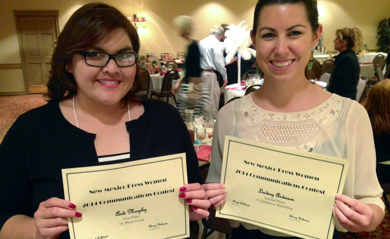Las Cruces Sun-News reporters Andi Murphy, left, and Lindsey Anderson, who have won state and regional awards for work they did with New Mexico In Depth.
