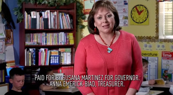 Gov. Susana Martinez promotes education in one of her ads.