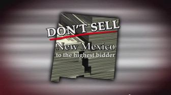 A screen shot from an ad being aired by Patriot Majority New Mexico, a union-funded state level PAC.
