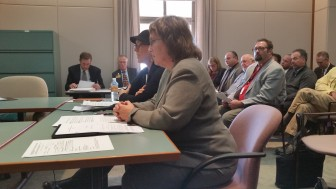 Attorney Karen Meyers, foreground, testifies before New Mexico lawmakers at a legislative hearing about lending reform Wednesday. Democratic Rep. Gail Chasey, seated beside Meyers, is sponsoring reform legislation.