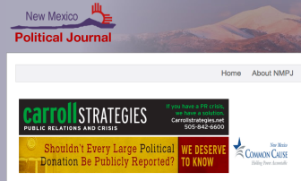 Common Cause New Mexico is running ads to support transparency legislation.
