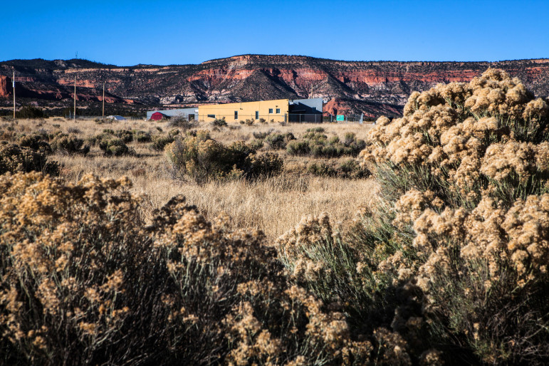 The Thoreau Community Center, on the north edge of town, shown here in November 2014. A 2010 suicide cluster claimed the lives of several young people in Thoreau and surrounding, isolated villages like Prewitt and Smith Lake – communities separated by hundreds of square miles of desert, asphalt and sandstone cliffs. Thoreau Community Center staff are working with Navajo Nation officials in Crownpoint to create a local crisis-response system.