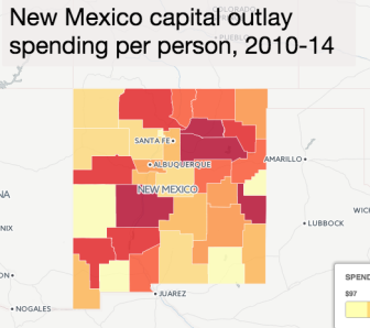 New Mexico capital outlay funding by county