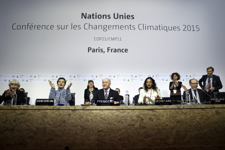 Photo from UNCOP Paris. https://www.flickr.com/photos/cop21/albums/with/72157659994269643