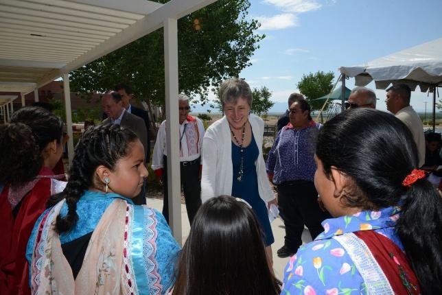 Interior Department Secretary Sally Jewell at Isleta Pueblo in August.