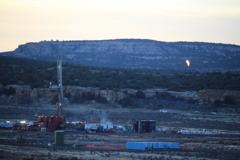 In northwestern New Mexico, energy companies drilled for oil within shale deposits. Since this photo was taken in late 2014, exploration there has slowed.