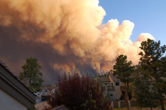 Photo taken from home as the Los Conchas Fire threatened Los Alamos