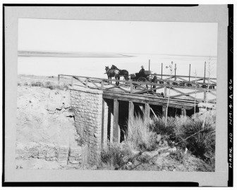 McMillan Dam on January 25, 1906. Courtesy of University of Oklahoma Press.
