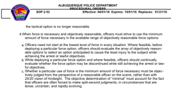 This is among the sections in the APD use of fore policy that critics say relies to heavily on the word feasible.