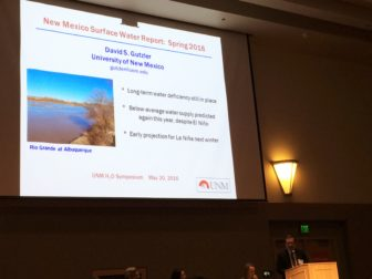 Dr. David Gutzler presented about New Mexico's dry conditions at a water conference at UNM last week.