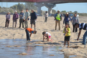 Fleck and others watch the San Luis Río Colorado pulse. Photo by Raise the River.