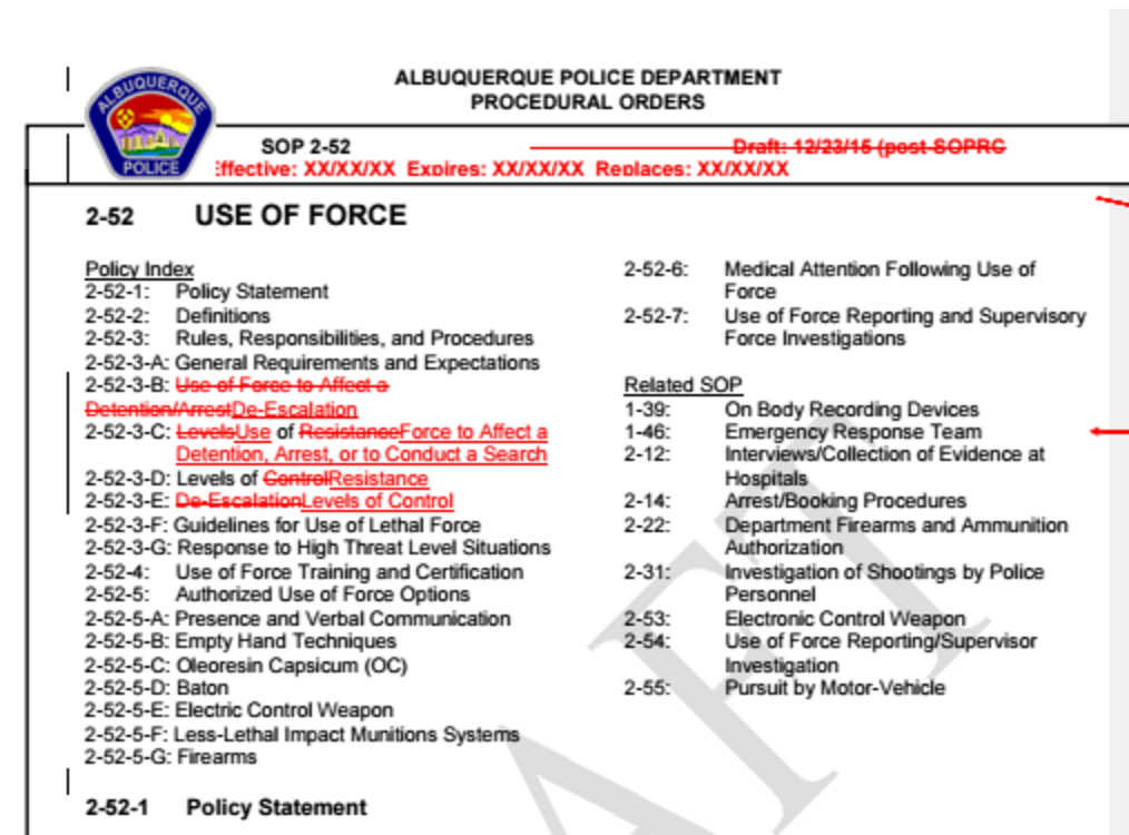 Emails show troubling concept crept into APD force policy