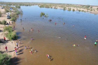 Children of San Luis Río Colorado play in the Colorado river. Photo by Raise the River.