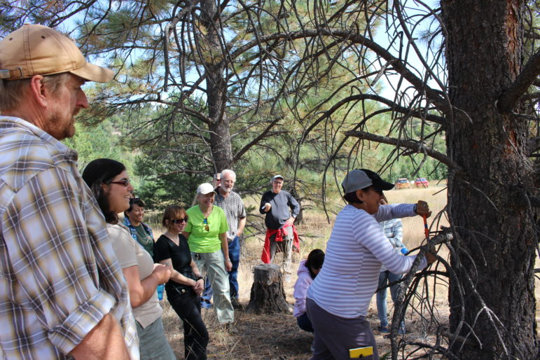 Middle school teacher Christopher Oglesby (far left) was one of the 30 or so teachers to attend a Saturday session on tree ring science last fall.