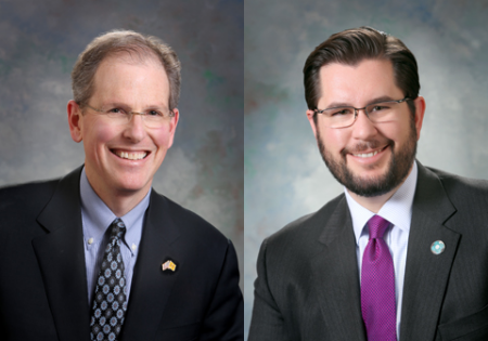 Sen. Peter Wirth and Rep. Brian Egolf, both Santa Fe Democrats.