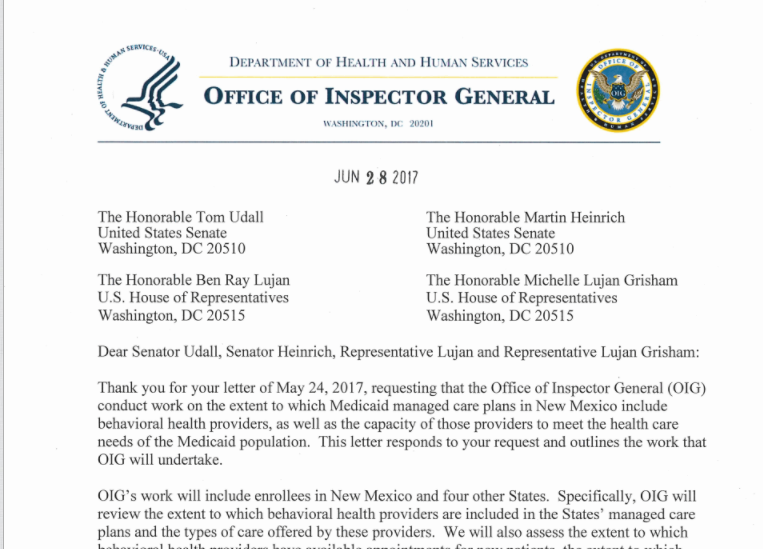 New Mexico Behavioral Health Care System Gets Federal Review New