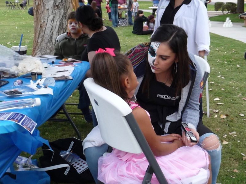 Face-painting at NEA rally