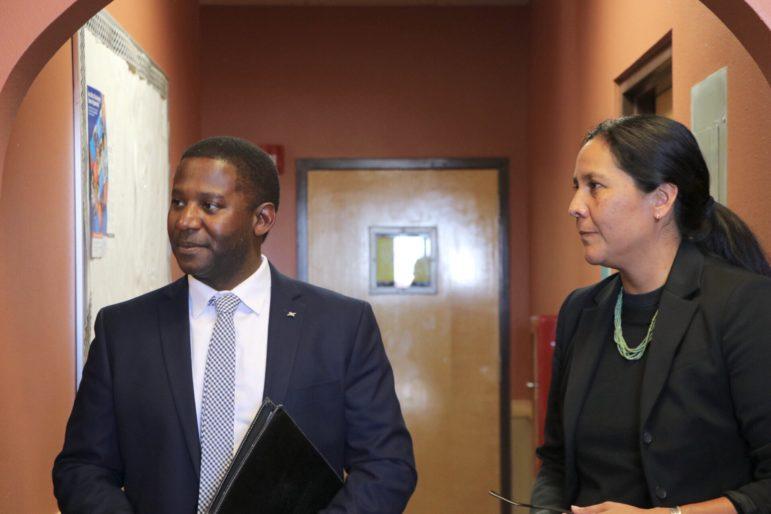Newly appointed Education Secretary Ryan Stewart, left, and Deputy Secretary Kara Bobroff.